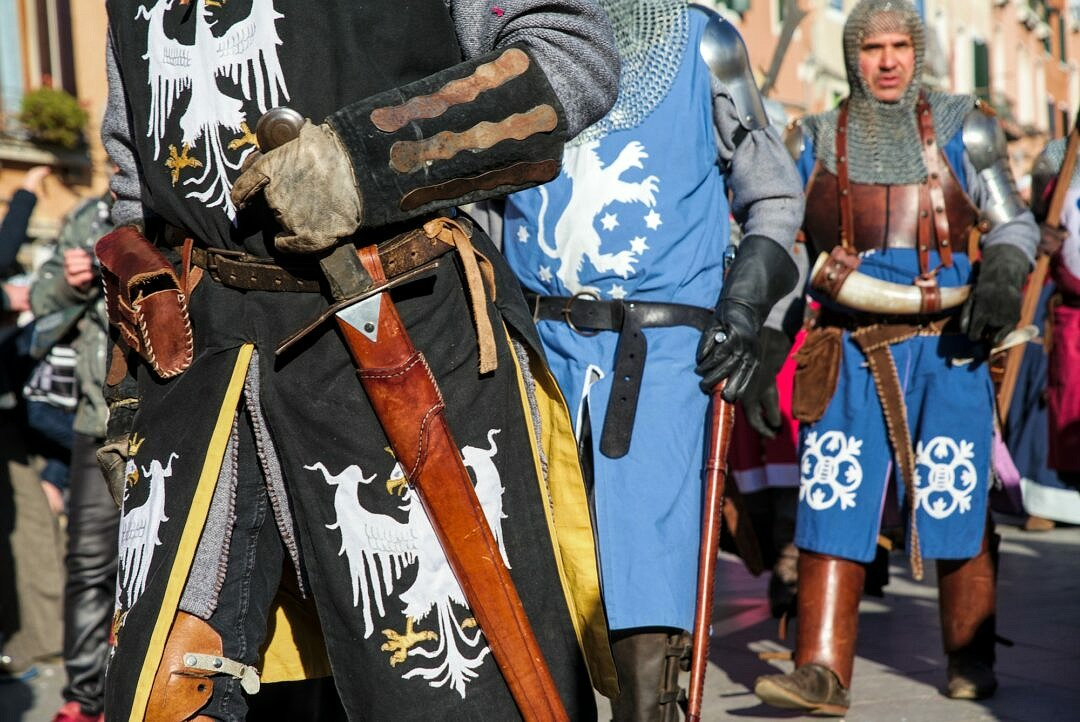 Medieval knights during the Festa delle Marie in Venice
