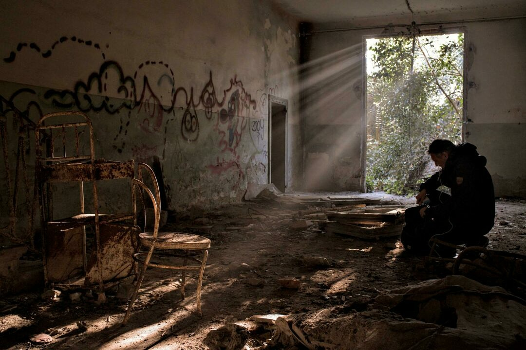 Magic light in the abandoned hospital on Poveglia