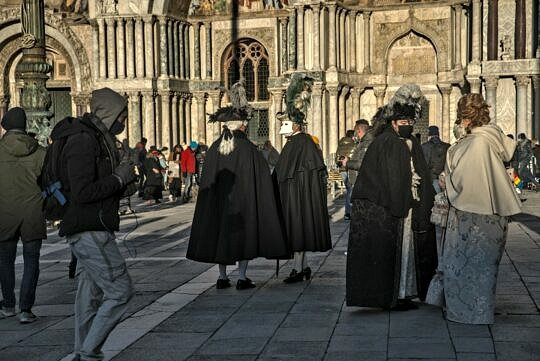 Carnival in Venice without the tourists